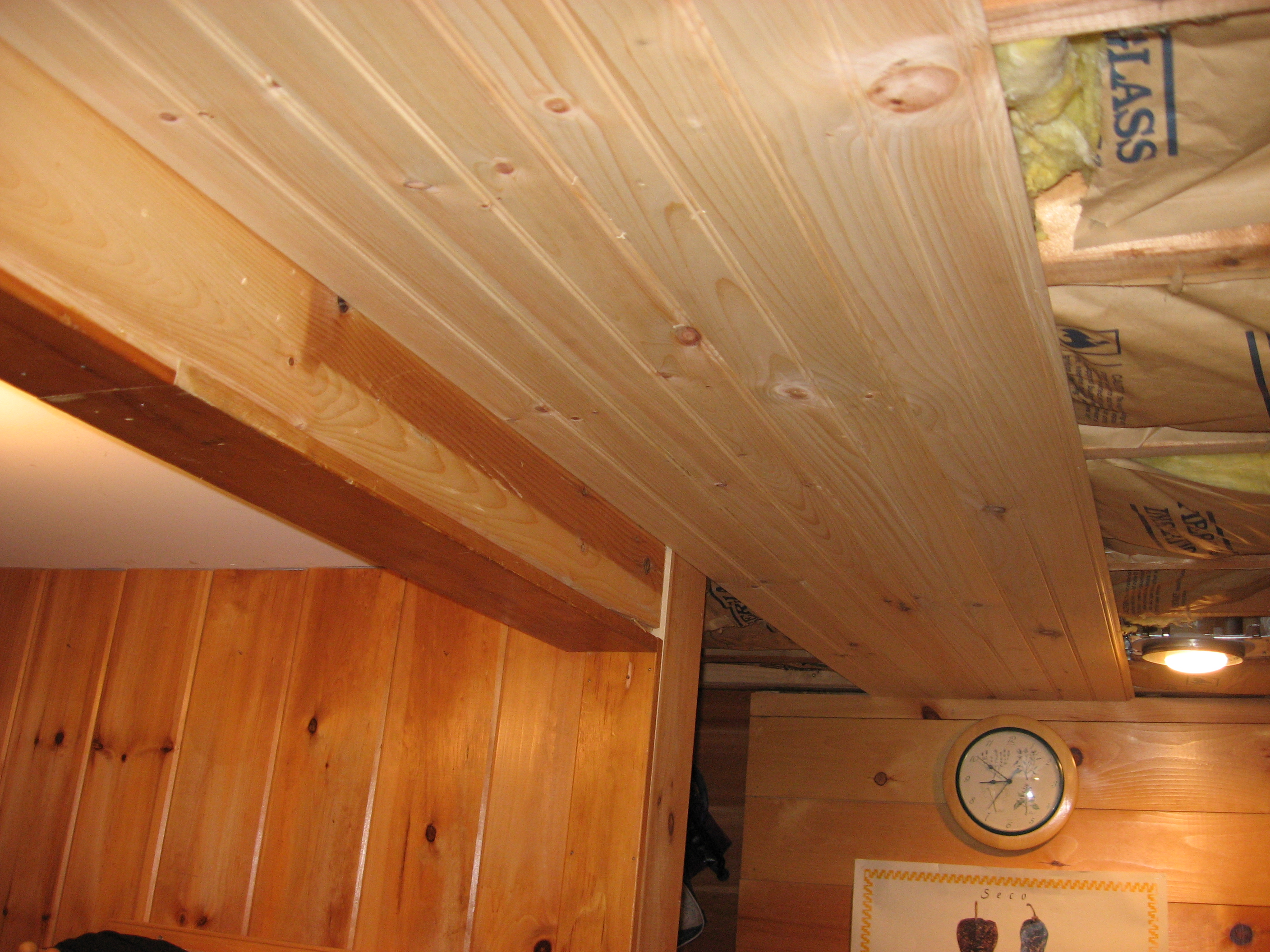Installing The Beadboard Ceiling