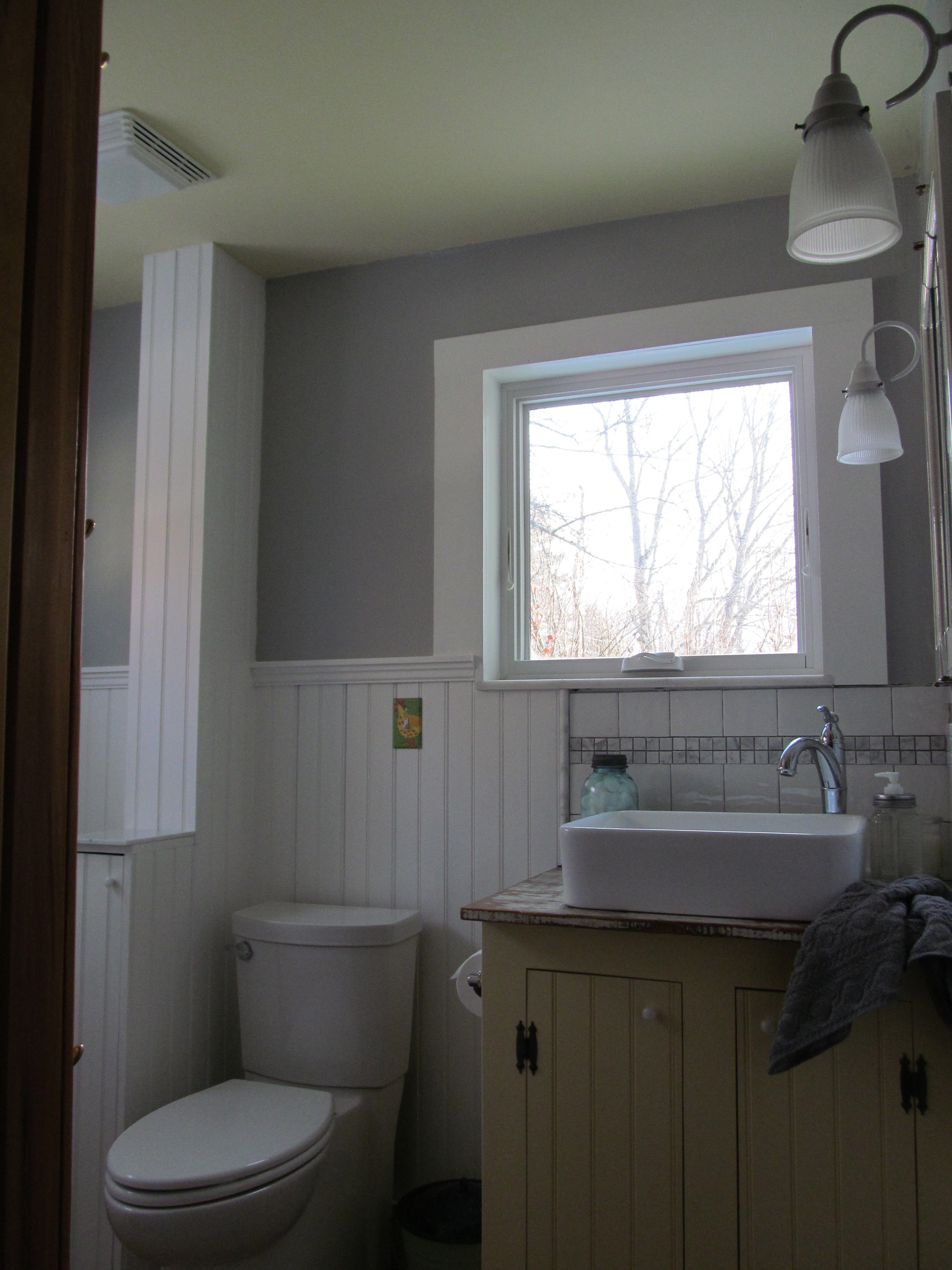 Small bathroom paint ideas gray - We Did The Ceiling First And Img_2430